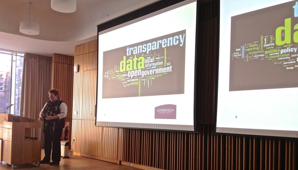 Sally Kerr describing City of Edinburgh Council's Open Data