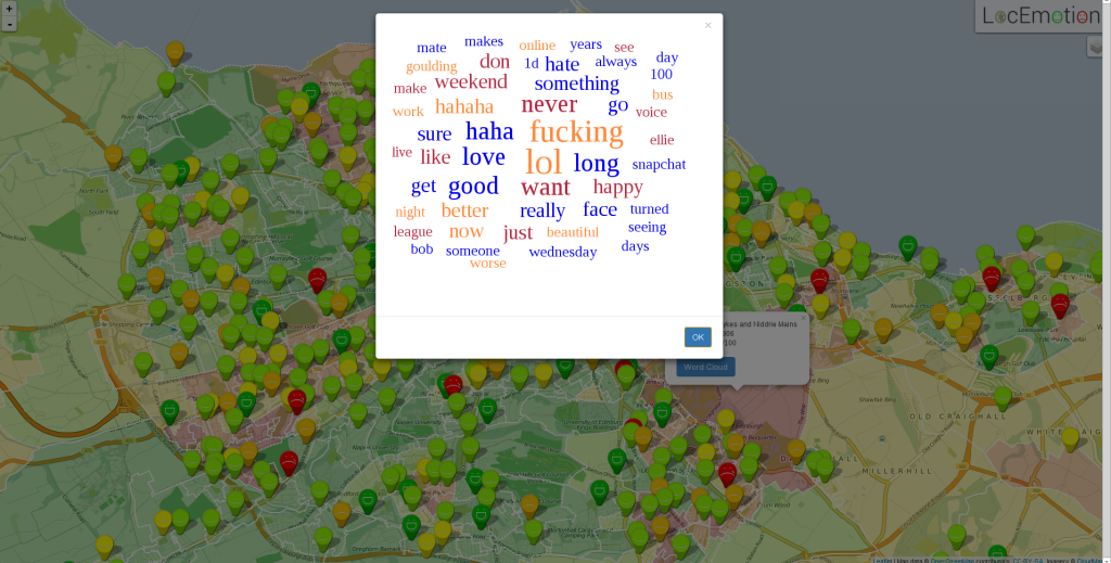 LocEmotion Twitter word cloud