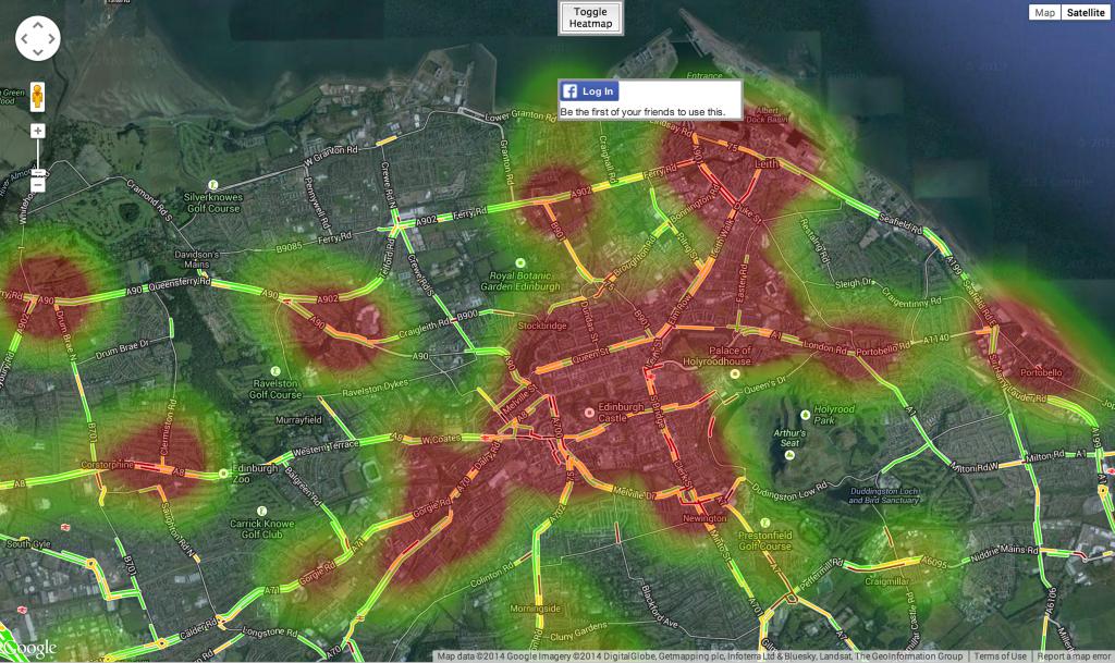 Pollution heatmap