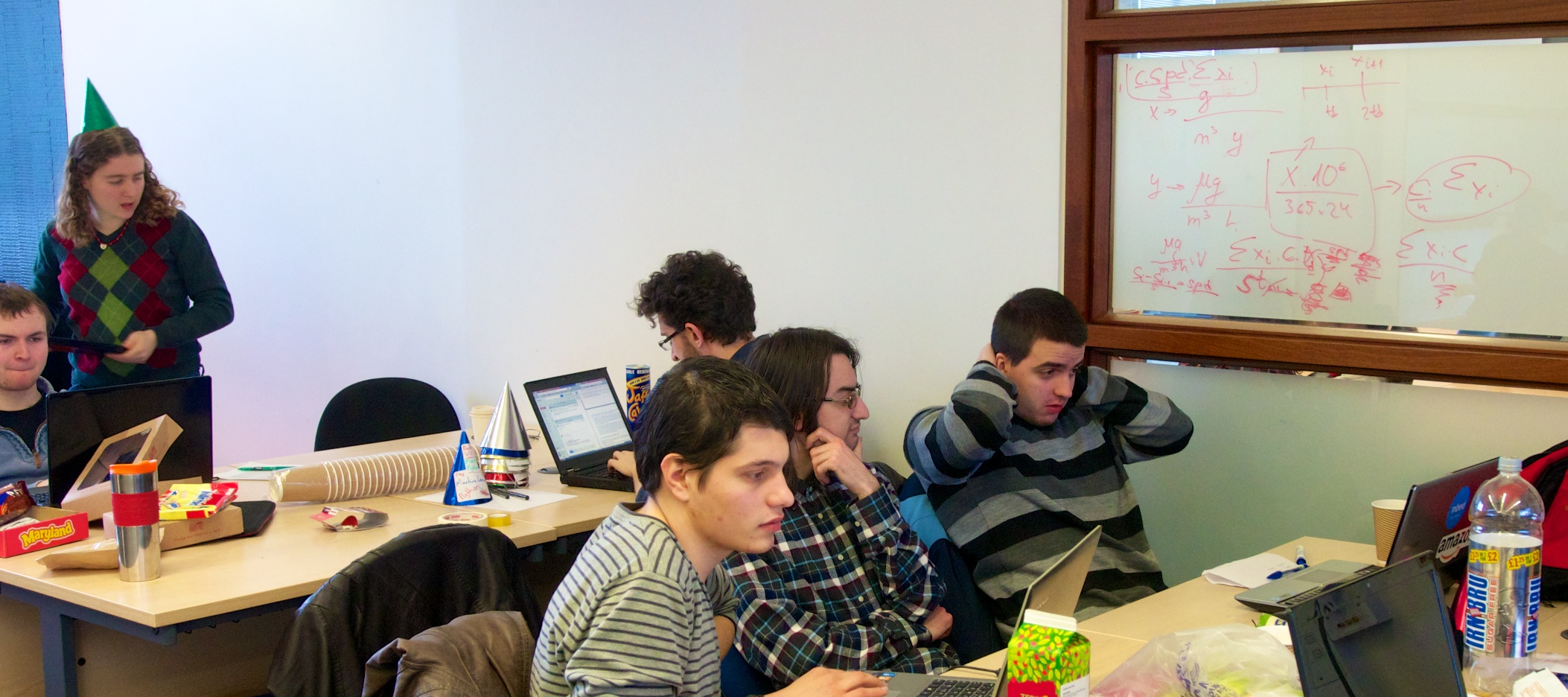 Students at the Smart Data Hack