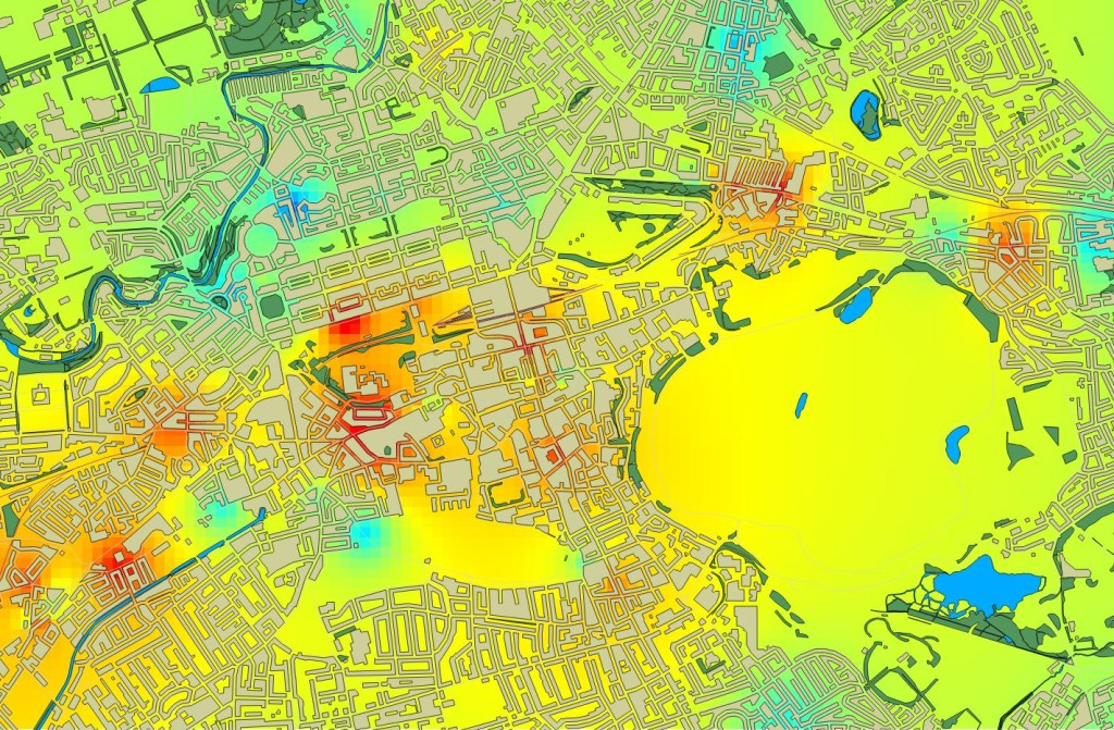 Air Quality Heatmap, Edinburgh 2013