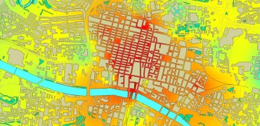 Heat map of air quality in Glasgow, 2013